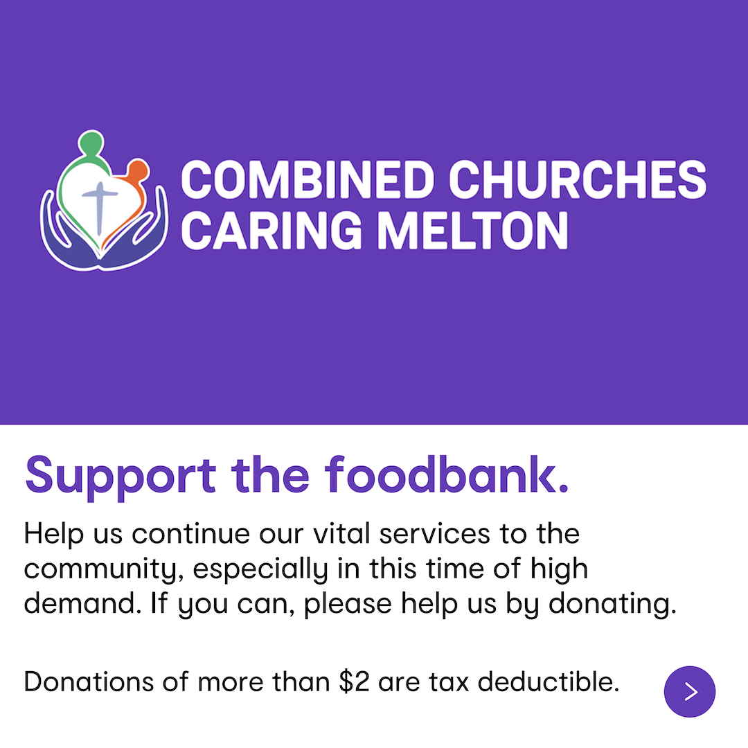 Support the foodbank - donate to CCCM if you can.
